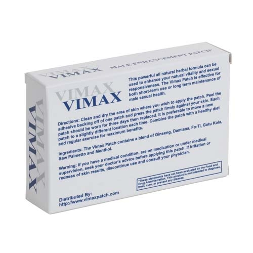 Vimax Patches easy to apply vimax patches